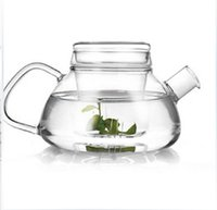 Wholesale Hot sale Creative Glass tea pot set glass filter heat resistant Convenient Office Tea Pot coffee pot