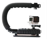 aee mini dv camcorder - Handle Handheld Stabilizer Grip C Shape flash Bracket holder Video for DSLR SLR Camera Phone Gopro AEE Mini DV Camcorder