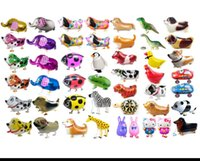 air walker balloons - Walking Pet Balloon Animal Balloon Pets Air Walker Foil Aluminum Birthday Party toys children Foil Toys Zoo Farm Pets KKA397