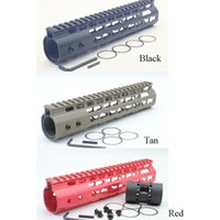aluminum hand railing - New Aluminum Red Tan Black Key Mod Handguard Rail Mount NSR Hand Guards