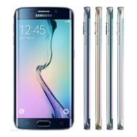 Wholesale New Refurbished Original Samsung Galaxy S6 Edge G925F Cell Phone Inch pixels Screen G RAM G ROM MP Camera Unlocked