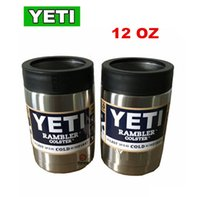 authentic coffee - Authentic YETI cup coolers oz Colsters Stainless Steel Insulation Cups Rambler Tumbler cup coffee mug W LID Cars Beer Tumblerful pc