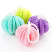Wholesale Japanese style fine mesh wash foam bath flower bath ball lanyard Cleansing thick bath flower Home supplies