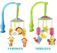 bell child seat - Newborn multifunction Baby Bed Lathe Hanging Rattle Bell Animal Child Stroller baby safety seat Car Clip Hanging Toys