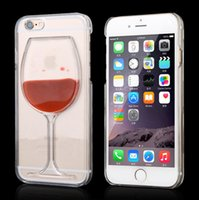 Wholesale Hot sale Red Wine Cup Liquid Stars Transparent Case Cover Phone Cases Back Covers For Apple iPhone s Plus s