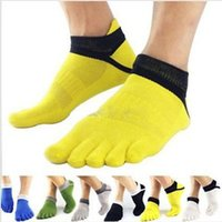 Wholesale Brand New Pair Breathable Cotton Sports Five Finger Socks Breathable Toe Socks For Men