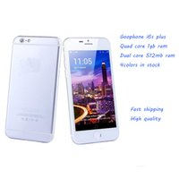 Wholesale 5 Inch I6 New unlocked i phone pius Mobile Phone MP camera WIFI GPS Bluetooth Factory directly