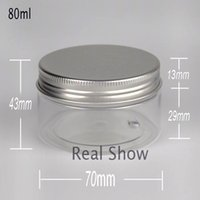 Wholesale 80ml cream bottles cosmetic packing container free sshipping Aluminum cap transparent bottle powder bottle