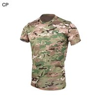 Wholesale Tactical Military Color Style Men T Shirt BDU Cloth Camouflage Quick Dry T shirt For Outdoor Hunting Sports CL34