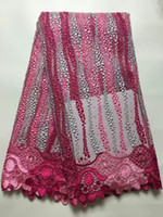 Wholesale New Arrival African Style Guipure French Lace Fabric High Quality Fashion Tulle Lace Fabric For Wedding Dress Yards