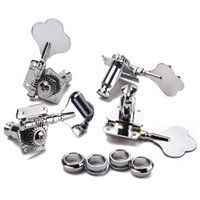 Wholesale 1set of L R Bass Replacement Chrome Tuning Keys Pegs Machine Head Tuners