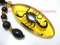 amber ornament - eal Black Scorpion in Amber Resin Keychain mm Scorpion Keyring Auto Ornament Birthday Present souvenir novelties keychain sco