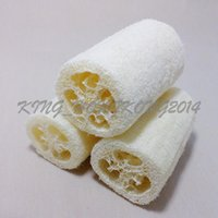 Wholesale Natural Loofah Sponge Bath Peeling Brush Scrubber Skin Care Exfoliating Tan Shower Sponge Massage Puff Loofa Mesh Sponge Spa Cleaning