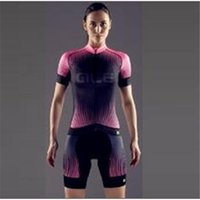 Wholesale New Arrival ALE women Cycling Jerseys Set Short Sleeve With Padded Bib Trousers Men Summer Cool Cycling Skinsuit Bike Wear XS XL
