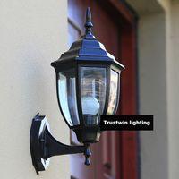 american lantern lighting - IP65 luxary American European outside vintage classic waterproof Black outdoor wall lantern light fixture lamp sconce