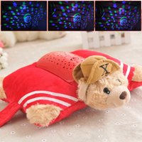 bears pillow pet - 2016 Romantic Pets Bear Pillow Pets Night Light LED Glow Auto Shut Off