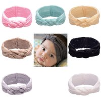 baby braided headband - 2016 Baby Lace Headbands Girls Hair Braided With Childrens Safely Cross Knot Hair Accessories Head Wrap Lovely Infant Elastic Headband
