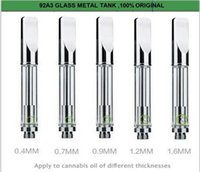 Wholesale 92A3 ce3 glass metal tank Tank Top New Organic CO2 extracted Wickless Tank Atomizer e cig empty wickless tank
