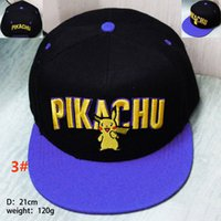 action figure protection - Unisex New Poke Pikachu Baseball Hats Caps Cartoon Action Figure Snapbacks Hats Hip Hop Ball Caps Sun Protection Hats GD H12