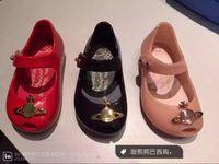 venda por atacado melissa-2016 novas crianças Mini Melissa sabor da geléia Meninas Calçados macia Material PVC couro lantejoulas Princesa Kids Shoes EUA tamanho 6-11 3 Cores