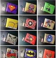 Wallets Unisex Credit Card superhero wallets marvel wallet 150 styles the avengers wallets card Holder Cartoon students wallets Superman Batman Wallet Xmas gift D194