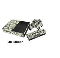 Etiquetas engomadas protectoras de la piel de la etiqueta del vinilo 1Set para la consola de Xbox + etiquetas engomadas 2PCS para los juegos de los reguladores de Xbox uno + la piel XB21 de Kinect