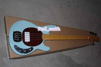 best electric cooler - Custom Shop cool Strings bass Electric Bass Guitar beautiful sky blue high Quality Best selling gold metal part headcase