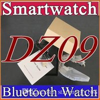 Wholesale Smartwatch Latest DZ09 Bluetooth Smart Watch With SIM Card For Apple Samsung IOS Android Cell phone inch DHL