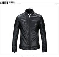big mens leather jackets - Good quality fashion mens Designer Brand leather jacket slim fit jackets for men big size mens motorcycle clothes
