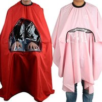Wholesale New Salon Barbers Hairdressing Cape Gown Hair Cutting Clothes Viewing Window Hot