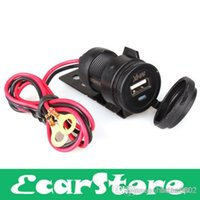 Wholesale 12V Waterproof Motorcycle HandleBar Cellphone USB Charger Power Adapter