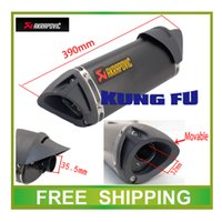 Wholesale Motorcycle Exhaust Scooter Muffler Akrapovic Exhaust pipe TTR CBR CBR125 CBR250 CB400 CB600 YZF FZ400 Z750 RACING accessories