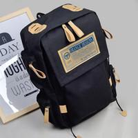 Wholesale Canvas boys and girls spring summer backpack bag boy junior high school students bag cotton tide leisure travel bag