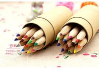 Wholesale A8 colored pencils for children barrels Colored pencils pastels for children Painting graffiti pencils