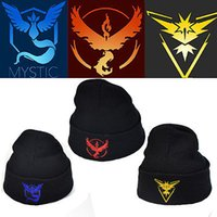 Wholesale 2016 New Casual Beanies for Men Women Fashion Knitted Winter Hat Solid Color Team Valor Hip hop Skullies Bonnet Unisex Cap Outdoor Gorro