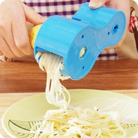 Wholesale 2016 NEW Premium Vegetable Spiralizer Spiral Slicer Zucchini Noodle Pasta Spaghetti Spirals Maker Julienne Cutter Peeler