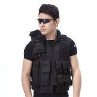 Wholesale Airsoft Paintball Wargame Tactical Outdoor SWAT Police Military Supplies Combat Assault Hunting Protective Vest Black