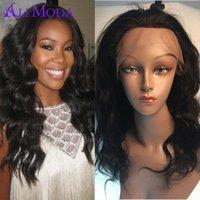 Wholesale Glueless Human Hair Wigs for Black Women A Brazilian Virgin Hair Full Lace Front Wig Brazilian Body Wave Lace Front Wig With Baby Hair