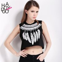 basics feathers - Womens Funny Feathers Print O neck Sleeveless T shirt Basic Boho Style Loose Casual Crop Tops Tees For