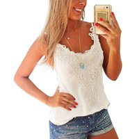 Wholesale Camisole Tank Women Tops Blusa Summer new Sexy Slim Vest Shirt Lace Blouse Tanks Camis Female clothing Feida