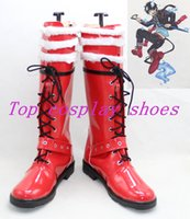 rin okumura achat en gros de-Vente en gros-Blue Exorcist Ao No Exorciste Rin Okumura Cosplay Bottes chaussures bottes chaussures # BEN001 rouge ver