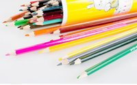 Wholesale A802 colour pencil Write painting Tin Water soluble pencil Student children Non toxic Secret Garden Coloring Artist Sketch