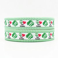 printed grosgrain ribbon - ribbon inch mm girl scouts printed grosgrain ribbon webbing yards roll for headband hair tie