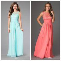 aqua evening dress - Aqua Lace Chiffon Long Bridesmaid Dresses Vintage Cheap Elegant Evening Dresse Formal Gown from China