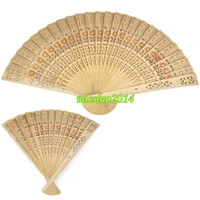 antique china patterns - Handmade Bridal Fans Wood Hand Fans Hollow Out Folding Fans Sunflower Pattern Wedding Accessories New Arrival Bridal Accessories