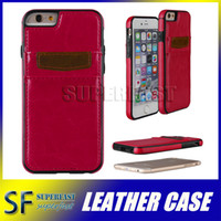 Cheap Iphone 6S Case Handcrafted Ultra thin Back Case Cover With ID Credit Card Slot Holder For Samsung S6 S7 With DHL Free Shipping