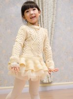Cheap Spring / Autumn christmas Best Knee-Length Cotton Blends girls Dresses