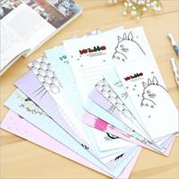 Wholesale letter paper envelope Set New Nice Totoro series Envelope Letter paper set office school supplies