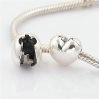 Wholesale Charms clips beads S925 sterling silver fits for european pandora style charms bracelets KT089 NH9