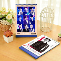 Wholesale 2017 desk clendar pc exo bts bigbang aoa b1a4 song joongki